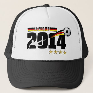 Germany Flag World Champion 2014 Soccer Trucker Hat