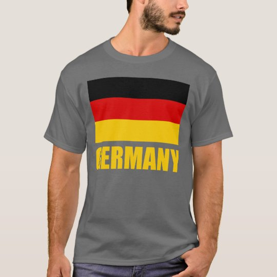 Germany Flag Yellow Text T-Shirt