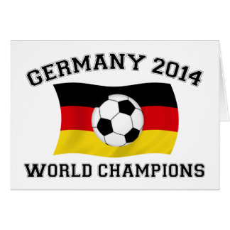 Germany Football Champions 2014 Greeting Cards