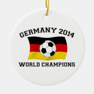 Germany Football Champions 2014 Double-Sided Ceramic Round Christmas Ornament