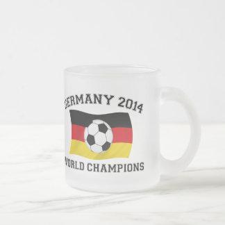 Germany Football Champions 2014 10 Oz Frosted Glass Coffee Mug