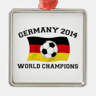 Germany Football Champions 2014 Silver-Colored Square Decoration