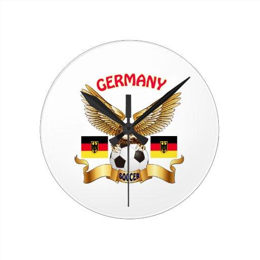 Football Design Wall Clock : Germany football designs wall clock zazzle