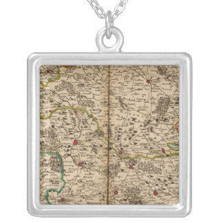 Germany forests square pendant necklace