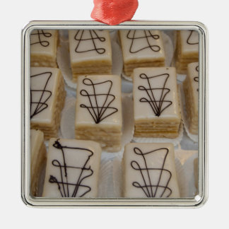 Germany, Franconia, Wertheim. Local bakery Silver-Colored Square Decoration