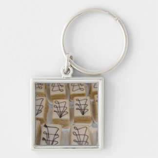 Germany, Franconia, Wertheim. Local bakery Silver-Colored Square Key Ring