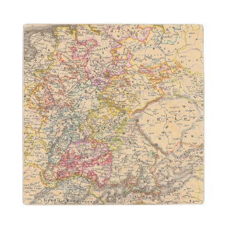 Germany from 1495 to 1618 wood coaster