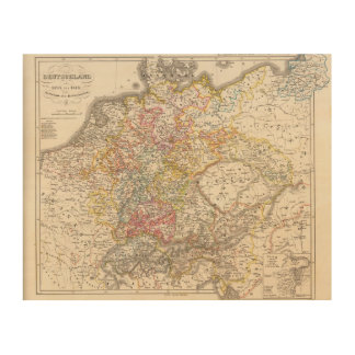 Germany from 1495 to 1618 wood print