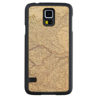 Germany general map carved maple galaxy s5 case