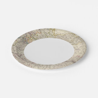 Germany general map paper plate