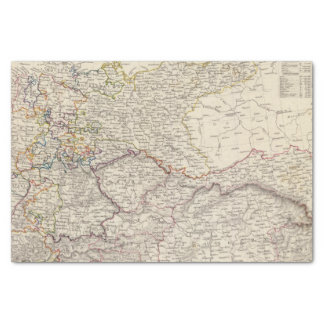 Germany general map tissue paper
