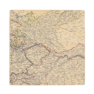 Germany general map wood coaster
