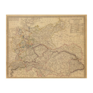 Germany general map wood prints