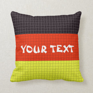 Germany German flag: ADD TEXT Cushion