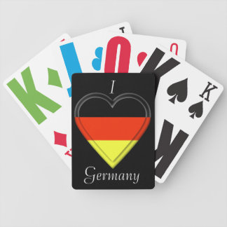 Germany German flag Bicycle Playing Cards