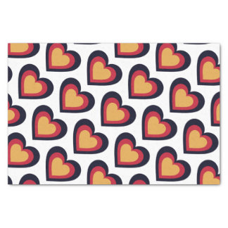 Germany/German Flag-inspired Hearts Tissue Paper