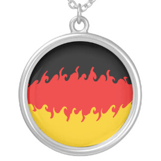Germany Gnarly Flag Round Pendant Necklace