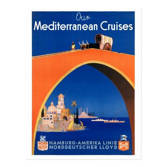 Germany Hamburg Vintage Travel Poster Restored Postcard