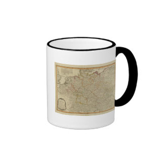 Germany hand oclored atlas map ringer mug
