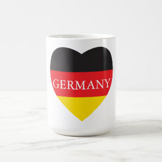 GERMANY HEART COFFEE MUG