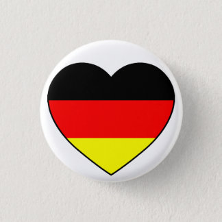 Germany heart football Germany 3 Cm Round Badge