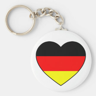 "Germany heart football supporter ""Germany "" Basic Round Button Key Ring"