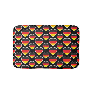 GERMANY HEART SHAPE FLAG BATH MAT