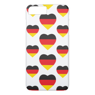 GERMANY HEART SHAPE FLAG iPhone 8 PLUS/7 PLUS CASE