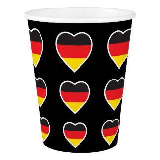 GERMANY HEART SHAPE FLAG PAPER CUP