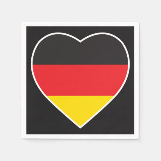 GERMANY HEART SHAPE FLAG PAPER NAPKIN