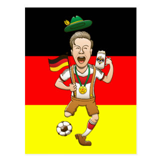 Germany is Four-time Soccer Champion Postcard