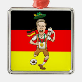 Germany is Four-time Soccer Champion Silver-Colored Square Decoration