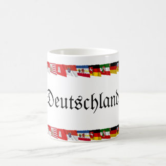 Germany & its Laender Waving Flags Coffee Mug