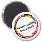 Germany & its Laender Waving Flags Magnet