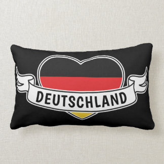 Germany Love custom text throw pillows