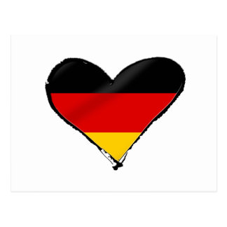 Germany love heart - My big German heart Postcard