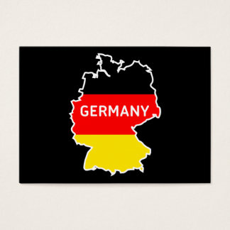 Germany Map and Flag Berlin Skyline Business Cards