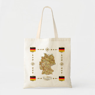 Germany Map + Flags Bag