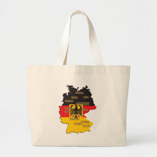 Germany Map Large Tote Bag