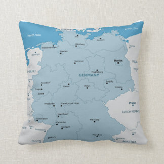 Germany Map Pillow