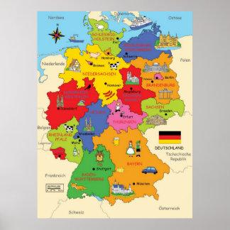 Germany map print