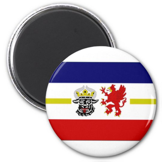 Germany Mecklenburg Flag Alternate 6 Cm Round Magnet