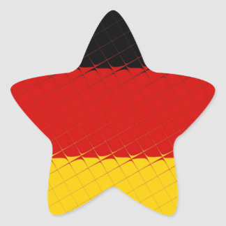 Germany National Flag Star Sticker