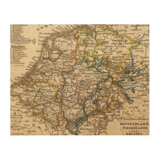 Germany, Netherlands, and Belgium Wood Prints