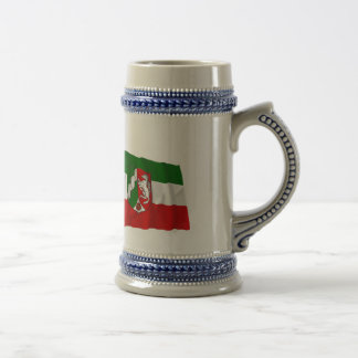 Germany & Nordrhein-Westfalen Waving Flags Coffee Mug
