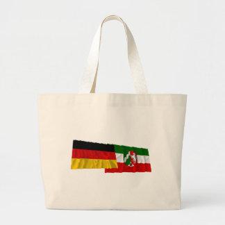 Germany & Nordrhein-Westfalen Waving Flags Bag