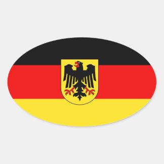 GERMANY OVAL STICKER