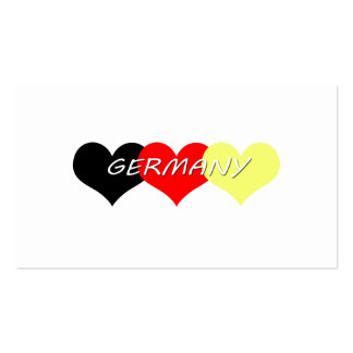 Germany Pack Of Standard Business Cards