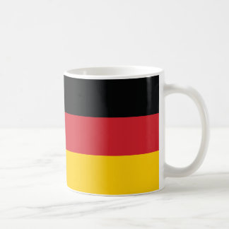 Germany Plain Flag Basic White Mug