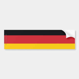 Germany Plain Flag Bumper Sticker